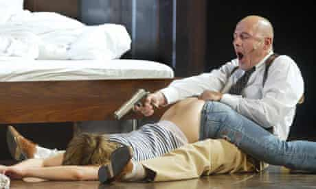 Ulrich Muhe and Katharina Schuttler in Sarah Kane's Aneantis, directed by Thomas Ostermeier.