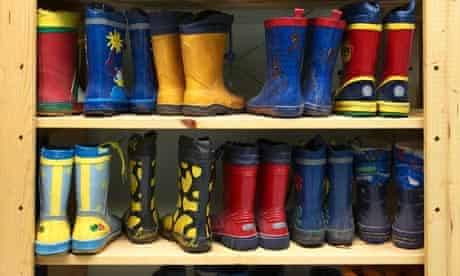 Children's shoereack in German daycare centre