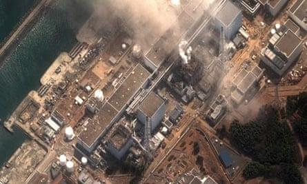 Ariel shot of Fukushima Daiichi nuclear plant in Japan