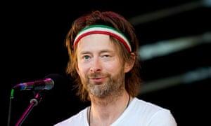 Thom Yorke of Radiohead performs at the 2010 Glastonbury festival.