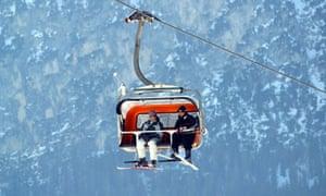 Chair lift Val Badia Trentino Alto Adige Italy