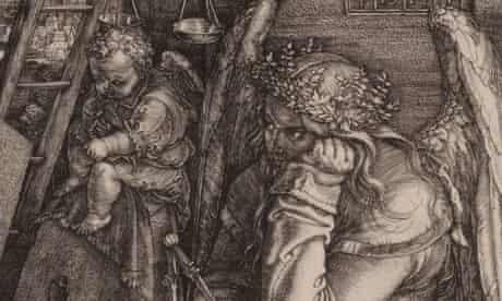 Albrecht Durer's engraving: Melencolia I, 1514