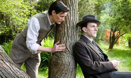 Christopher Isherwood (Matt Smith) and WH Auden (Pip Carter) in Christopher And His Kind