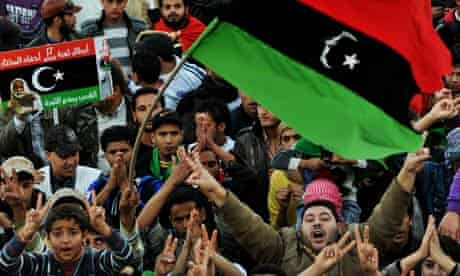Libyan anti-government protesters
