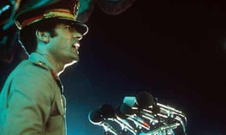 Colonel Gaddafi speaking in 1977