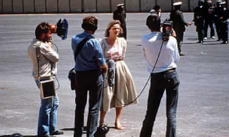 Katie Adie reporting from Tripoli after the Americans bombed the city in 1986