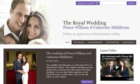 Royal wedding website