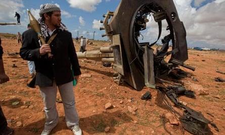 Libya: rebel fighter in Benghazi