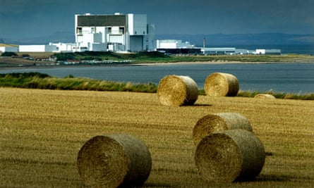 Torness power station in East Lothian, Scotland.