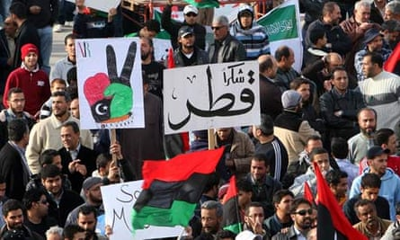 Libyans gather in Benghazi