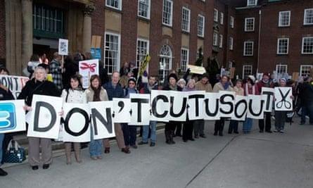 Don't Cut Us Out West Sussex protest