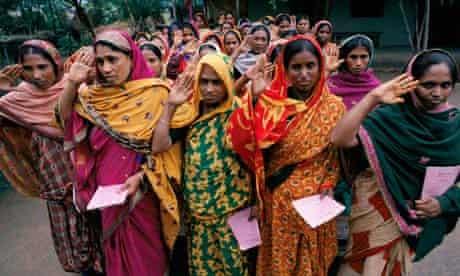 Bangladeshi women customers of Grameen Bank