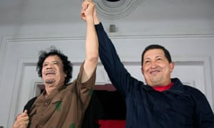 Muammar Gaddafi and Hugo Chavez