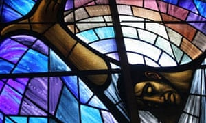 Alabama Birmingham 16th Street Baptist church stained-glass window