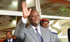 Ivory Coast's internationally recognised President Alassane Ouattara