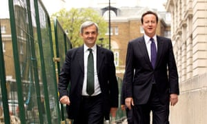 David Cameron with the Secretary of State for Energy and Climate Change Chris Huhne