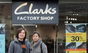 Chinese visitors to Clarks Village