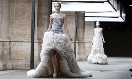 Alexander mcqueen wedding dress rumour fuelled by ice queen show alexander mcqueen wedding dress rumour fuelled by ice queen show fashion the guardian junglespirit Image collections