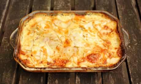 Angela Hartnett's celeriac and potato gratin recipe