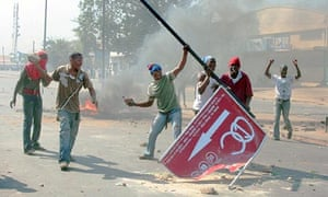 Food price riots in Maputo, Mozambique, last year