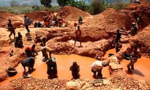Prospectors in Manica Province, Mozambique