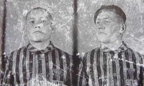 Piechowski as an inmate at Auschwitz