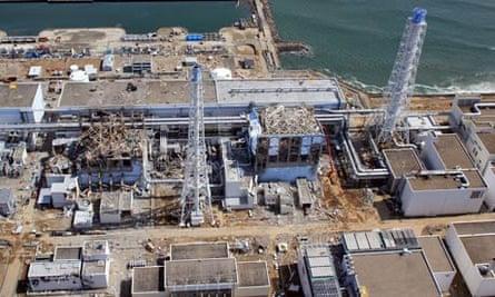 Aerial view of Fukushima nuclear plant