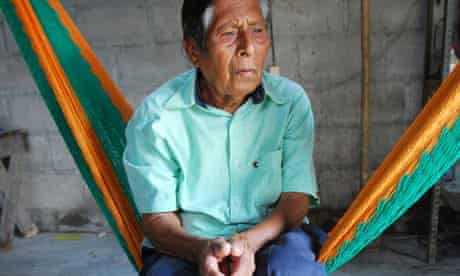 Manuel Segovia still speaks Ayapaneco to his wife and daughter, who understand him