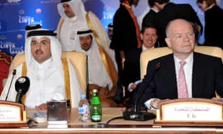 William Hague and Tamim bin Hamad al-Thani