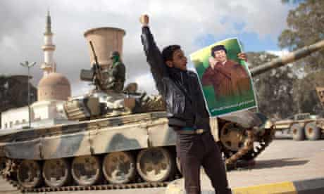 Tanks in Tripoli last month.