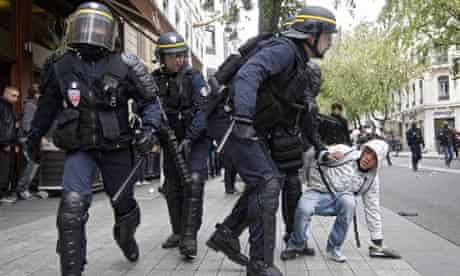 French riot police (CRS)