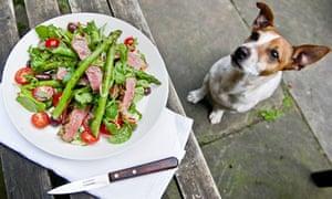 Angela Hartnett's beef horseardish and aspargus salad