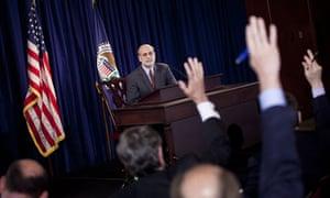 Ben Bernanke gives press conference