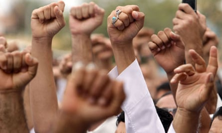 Protesters in Bahrain in March 2011