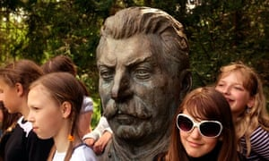 A sculpture of Stalin in Grutas Park