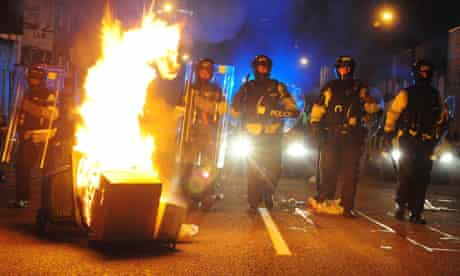 Tesco protesters clashed with police again on Thursday night in the Stokes Croft area of Bristol.