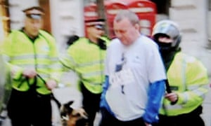 Screen grab of footage from the events preceding Ian Tomlinson's death