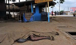 victim of stray bullet in Abidjan