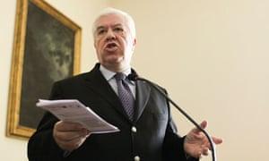 Portuguese finance minister, Teixeira dos Santos