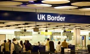 UK Border control at Terminal 5
