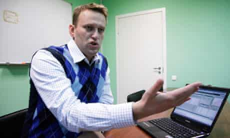 Russian blogger Alexei Navalny