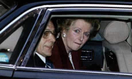 Margaret Thatcher leaving Downing Street