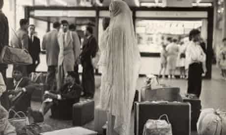 Pakistani immigrants at Heathrow airport.