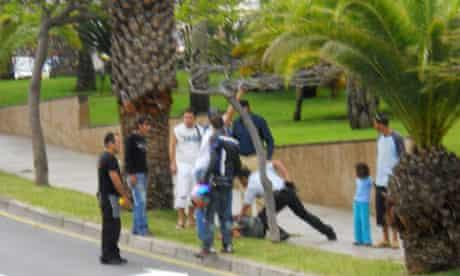 Tenerife beheading suspect restrained
