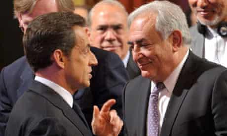 Dominique Strauss-Kahn sand Nicolas Sarkozy