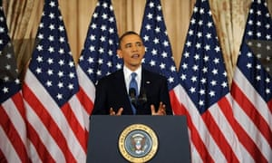 US President Barack Obama delivers speech on Middle East