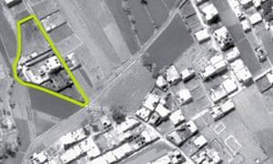 Aerial view of bin Laden's compound in Abbottabad