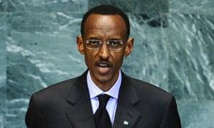 Rwanda's president, Paul Kagame