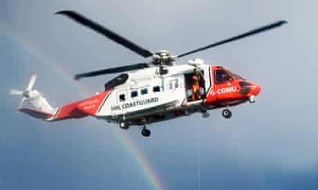 Coastguard helicopter based at Stornoway, Orkney