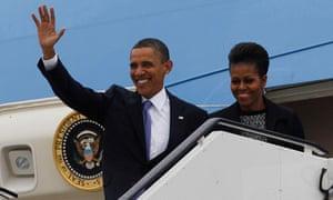 Barack Obama lands in Dublin